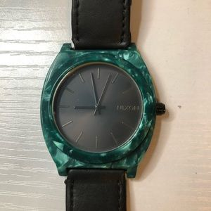 Time Teller Acetate Leather - Emerald.